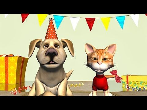 Funny Happy Birthday Song. Cat and Dog sing Happy Birthday To You - YouTube