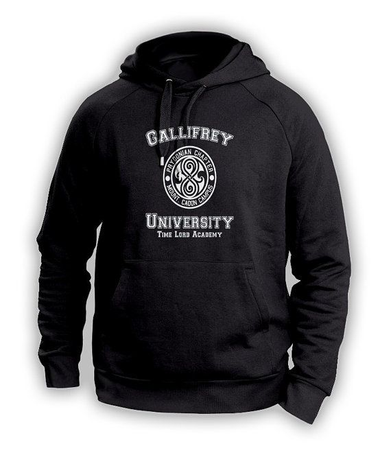 Custom Gallifrey University Timelord Academy Hoodie sweatshirt inspired by Doctor Who