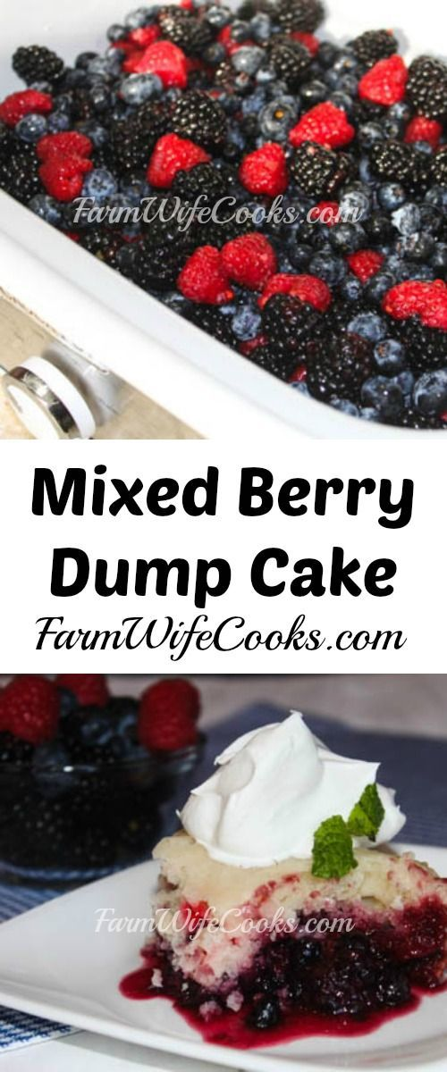 Casserole Crock Pot Dump Cake with Mixed Berries