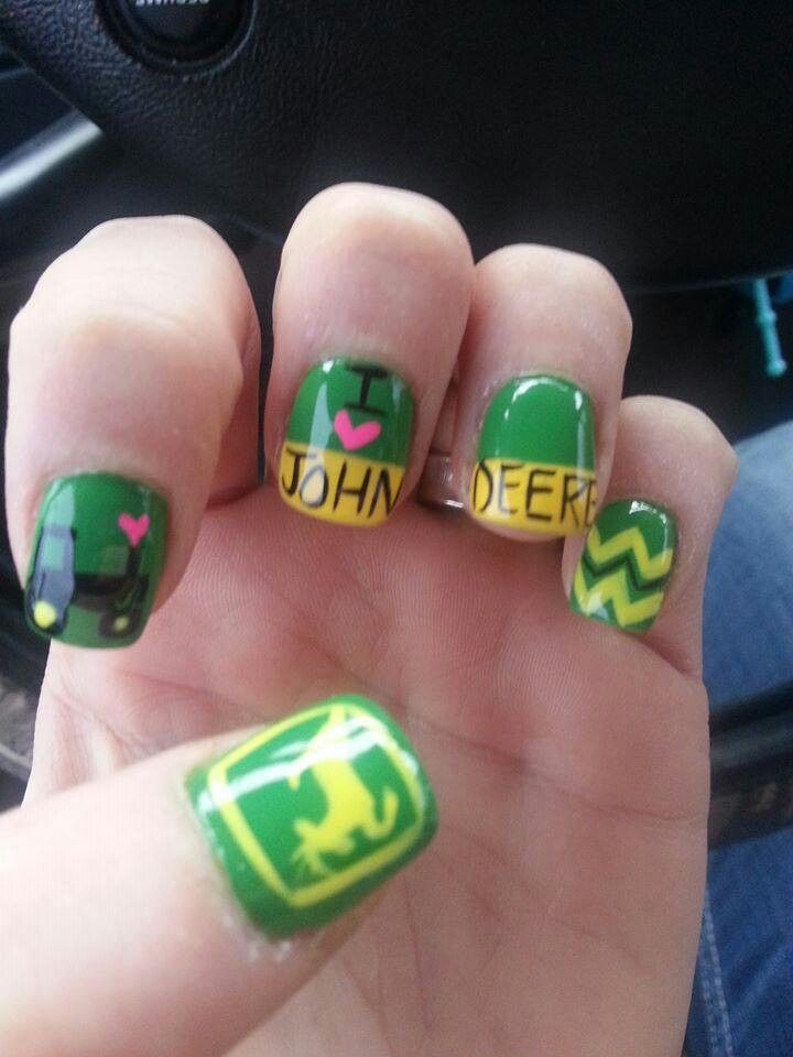 johndeere country nail art nails and toe nails pinterest country nail art country nails. Black Bedroom Furniture Sets. Home Design Ideas