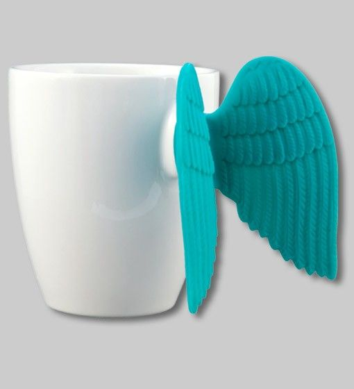 I think I am in love... How beautiful. Angel wings mugs and Espresso cups. By Pylones