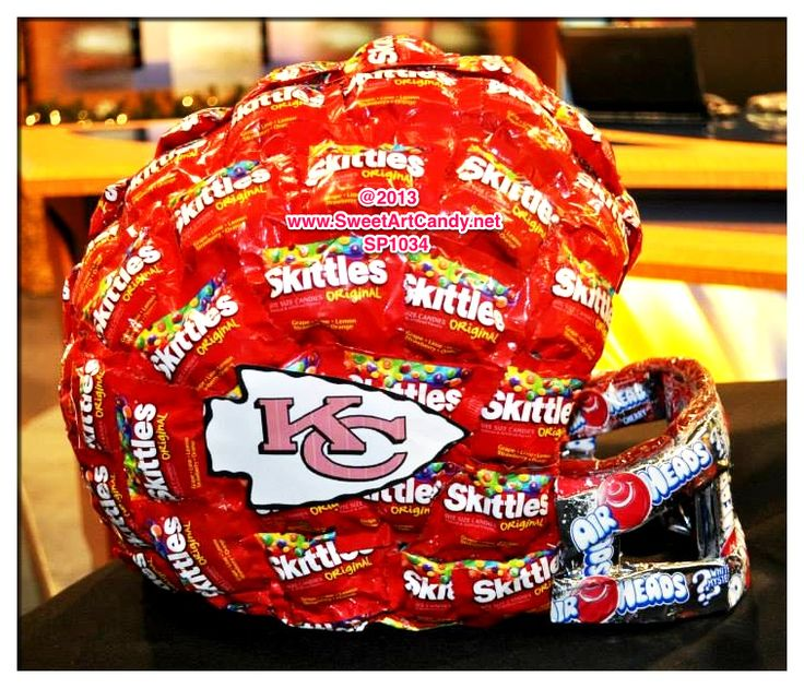 CHIEFS SKITTLES HELMET Item #SP1034  Order this and more at www.SweetArtCandy.net