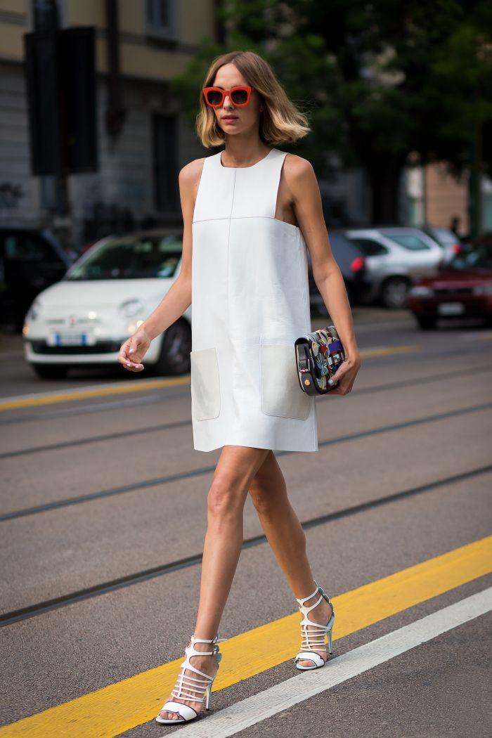 vestido setentinha, mas super moderno.