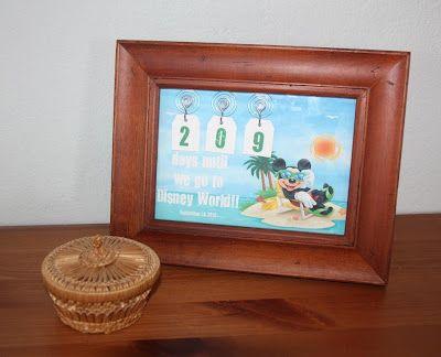 Disney countdown frame