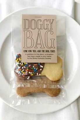 Doggy Bags to send guests home with for their dogs! #DogWedding