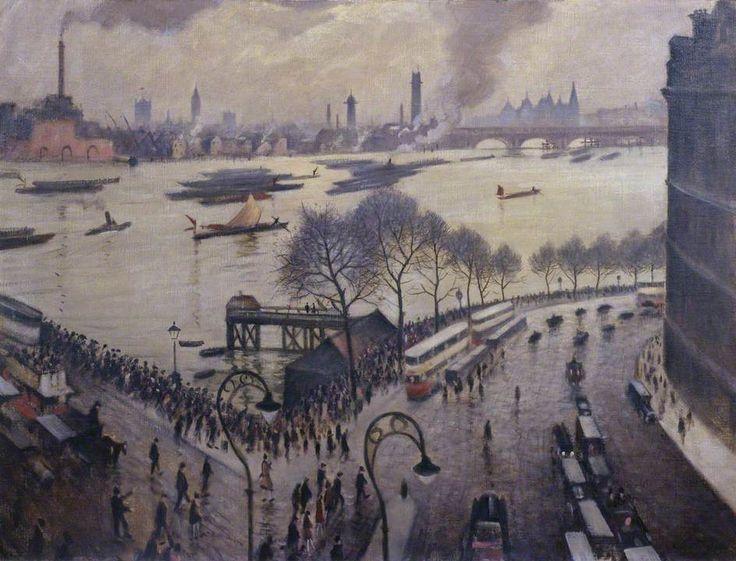 Christopher Nevinson - Blackfriars Bridge, London, 1927