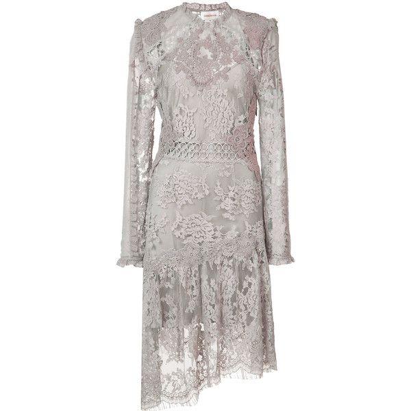 Zimmermann lace dress ($2,620) ❤ liked on Polyvore featuring dresses, grey, grey dress, gray dress, zimmermann dresses, zimmermann and gray lace dress