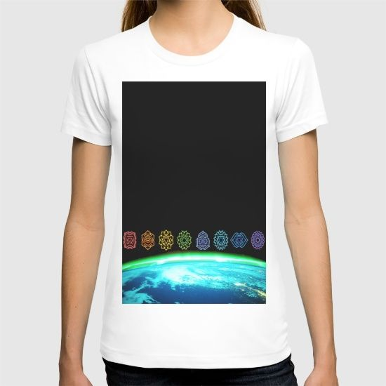15% Off + Free Shipping on Totes, T-Shirts and Carry-All Pouches - Today Only! Promo Link...https://society6.com/product/earth-chakras_t-shirt?curator=azima
