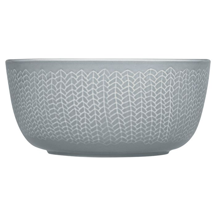 Iittala Sarjaton Letti Bowl in grey - looks like it's knitted!