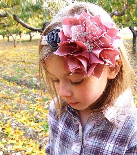 Flower Headband Tutorial: 17 Best Ideas About Fabric Flower Headbands On Pinterest