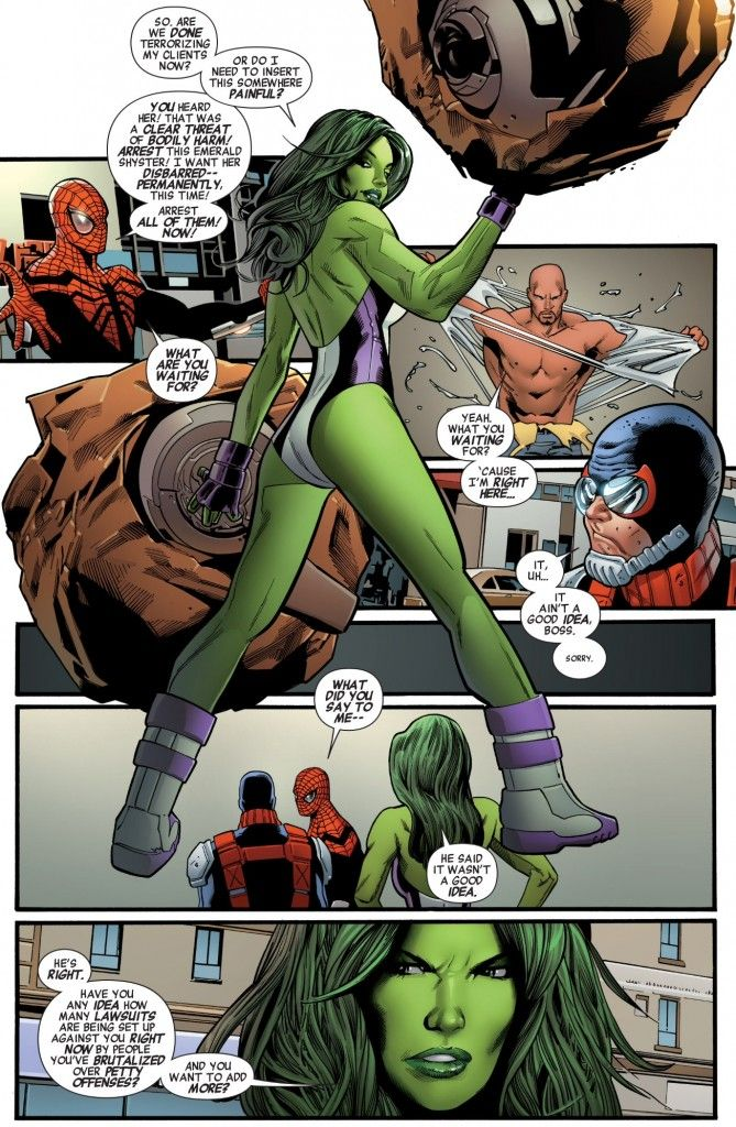 She Hulk Joins The Fray In Mighty Avengers 5 Spider Man