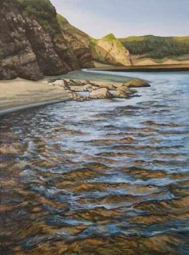 Low Sun (Bethells Beach, New Zealand) by Arwen Flowers www.kiwiartist.com - oil painting