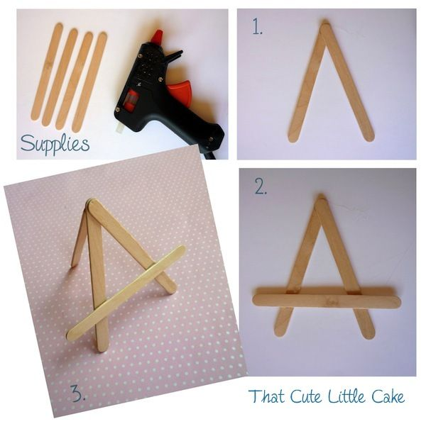 {Craft} DIY Mini Easels | That Cute Little Cake