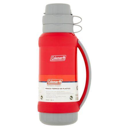 Coleman The Outdoor Company 1.75 qt Plastic Vacuum Bottle, Red