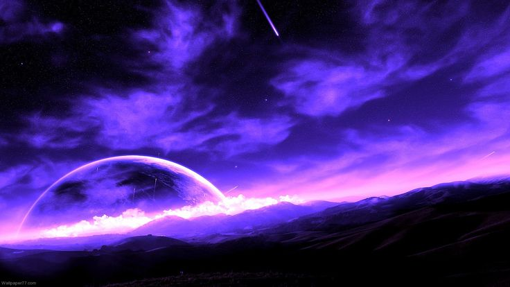 Purple Planet wallpapers and images wallpapers pictures photos
