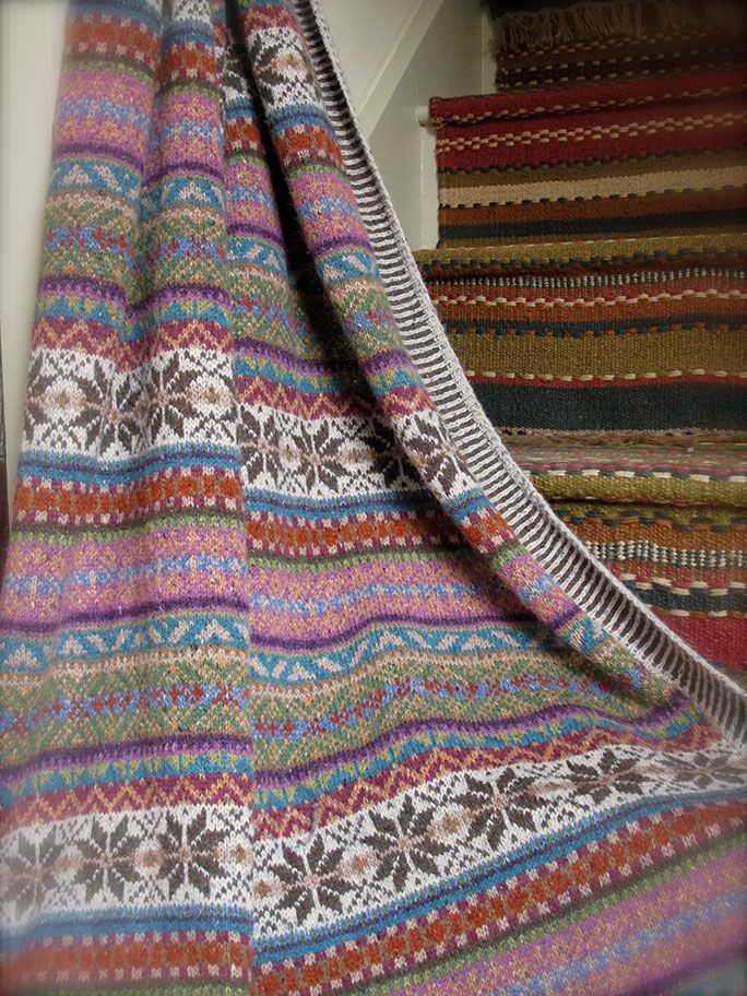Fair Isle Knitting Pattern : Maire wallin sage throw would love to make something