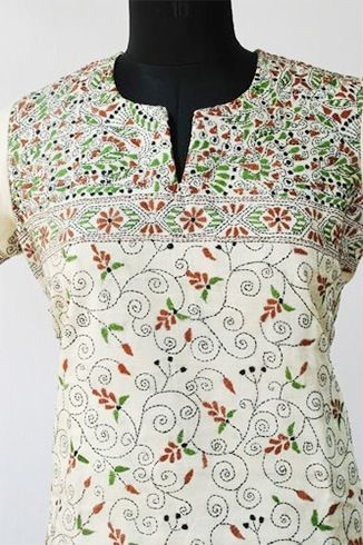 Kantha Embroidery Kurtis