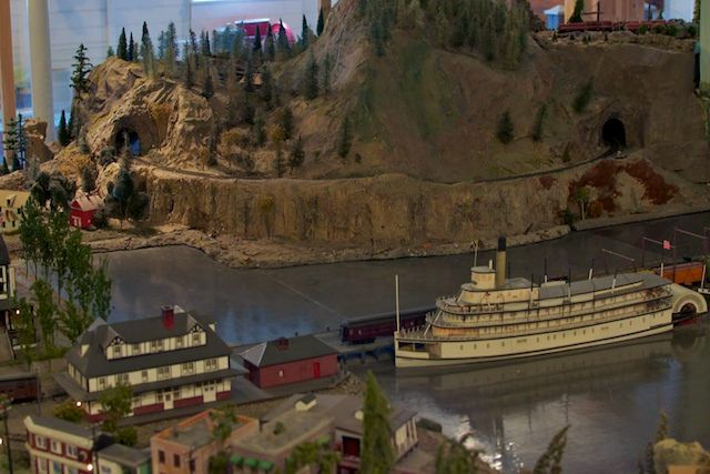 S.S. Sicamous in the Kettle Valley Model Railway