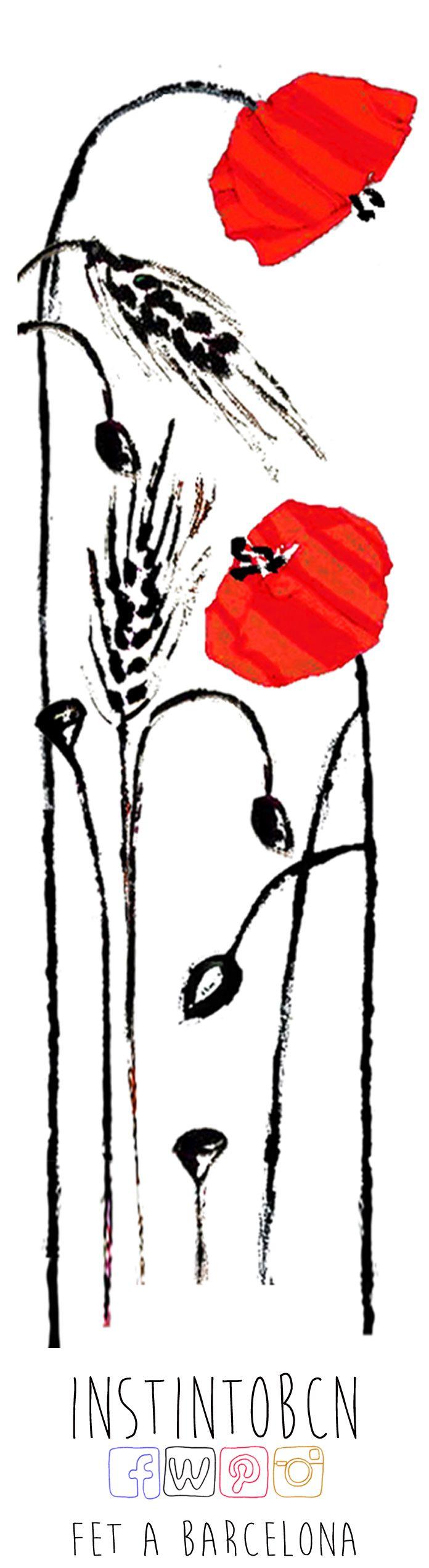 Punto de libro con el diseño Blat. #SantJordi #Bookmark #PuntDeLlibre