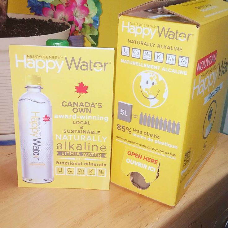 I got a free box of Happy Water today from #socialnature  Definitely takes up less space in the fridge!  #tryit #happywater #water #h20