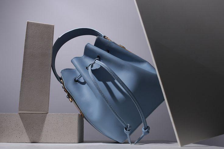 Drawstring bucket bag,   Sophie Hulme    Photography by  Tom Hartford   Styling by  Alex Petsetakis