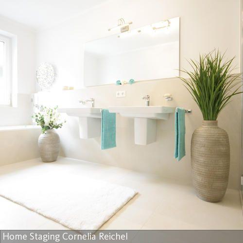 Erfrischendes Türkis im Badezimmer …