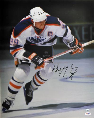 Wayne Gretzky Signed 16x20 Photo - PSA/DNA #SportsMemorabilia #EdmontonOilers