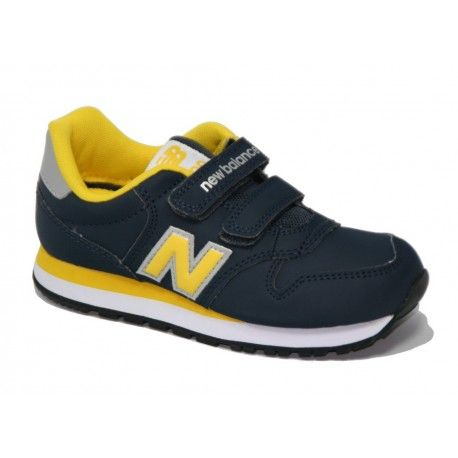new balance niños azul y amarillo