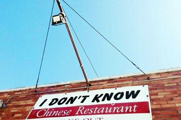Chinese restaurant named 'I don't know' because of owner's kids