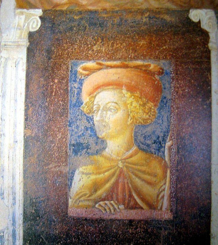 Веккьетта. Self-portrait. Detail of a fresco in Collegata di Castiglione Olona.