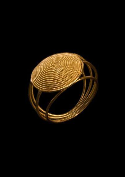 Galdino Saba,anello a corbulas ( cestino ) lavorazione a mano