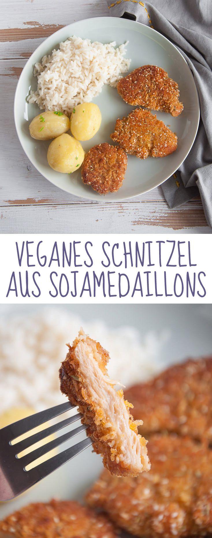 Veganes Schnitzel aus Sojamedaillons   VeganmitGenuss.com