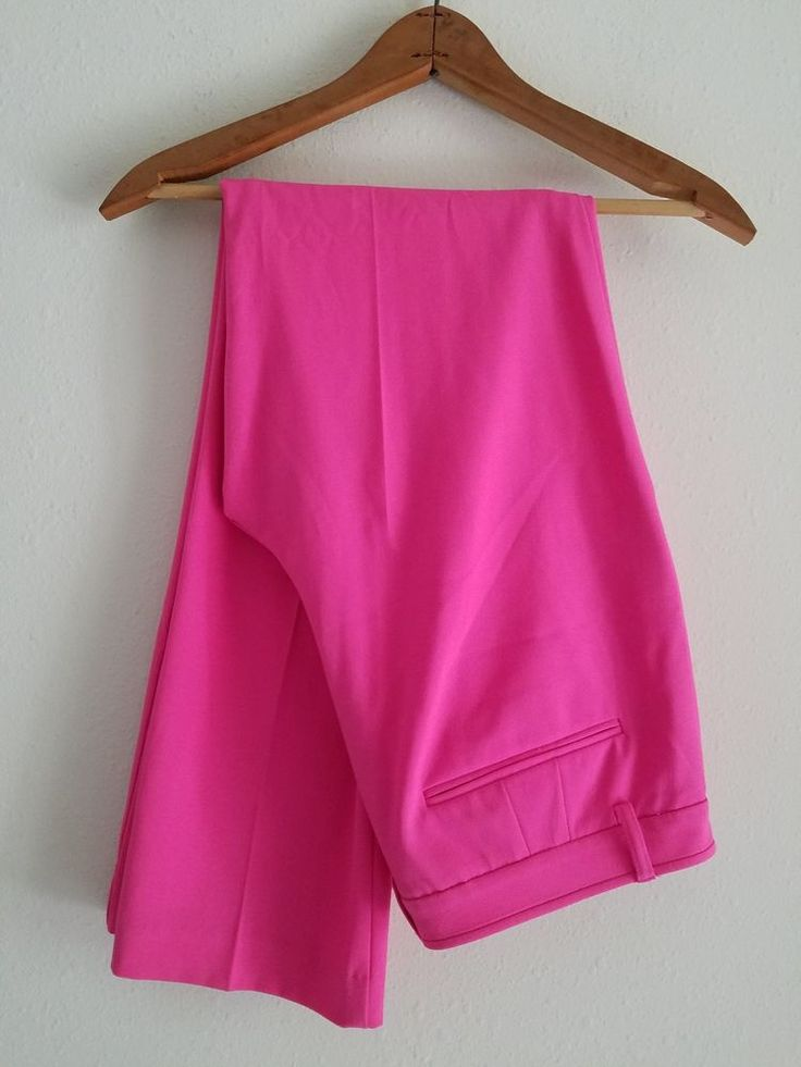 new York and Company - Straight Leg Stretch Pants - Bright Hot Pink- Size 8 | Clothing, Shoes & Accessories, Women's Clothing, Pants | eBay!