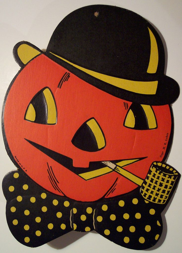 vintage halloween pumpkin head with pipe flickr photo sharing