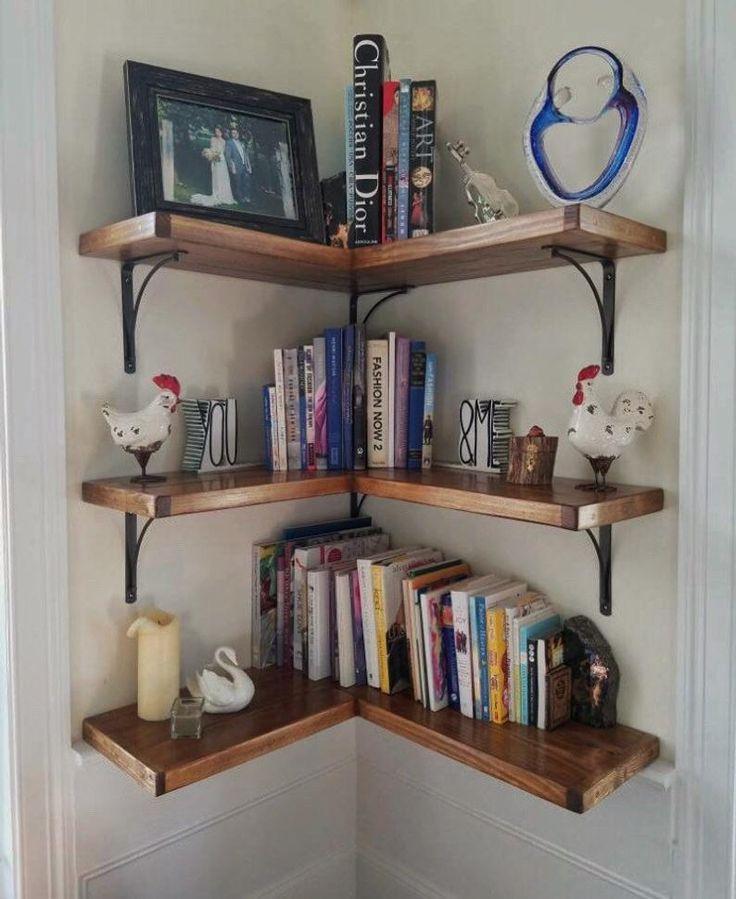 Harp Design Corner Shelf Wall Mount Of 5 Tier Carbonized Black In 2020 Bookshelves Diy Corner Shelf Design Bookshelf Design