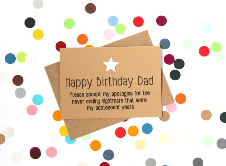 Funny birthday card for Dad: Apologies for my adolsecent years. Handmade - pinned by pin4etsy.com