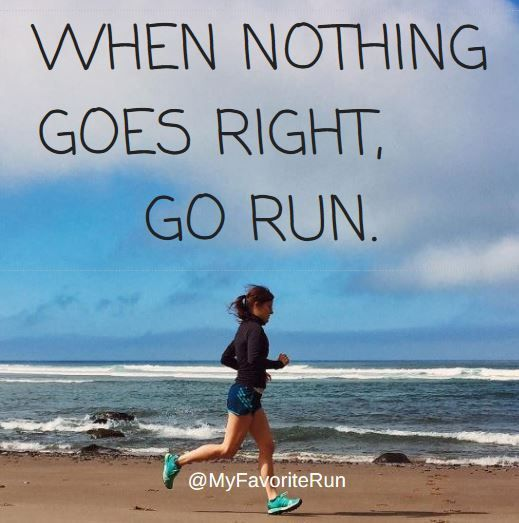 Good things comes to those that sweat! No matter the day, the run usually comes to the rescue