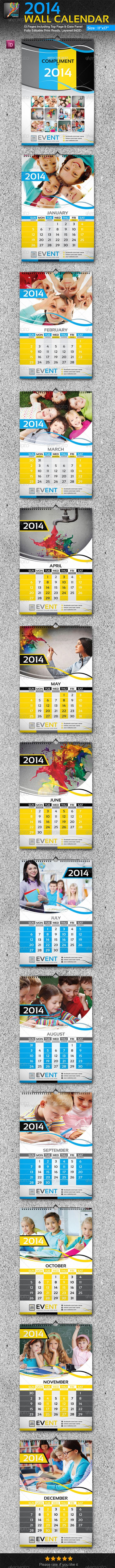 2014 Wall Calendar_13 Pages