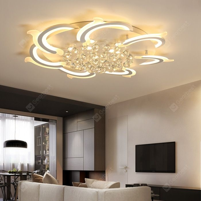 Buy Simple Modern Acrylic Atmosphere Creative Warm Shaped Led Ceiling Lamp Sale Ends Soon Be In Ceiling Lights Modern Led Ceiling Lights Ceiling Light Design
