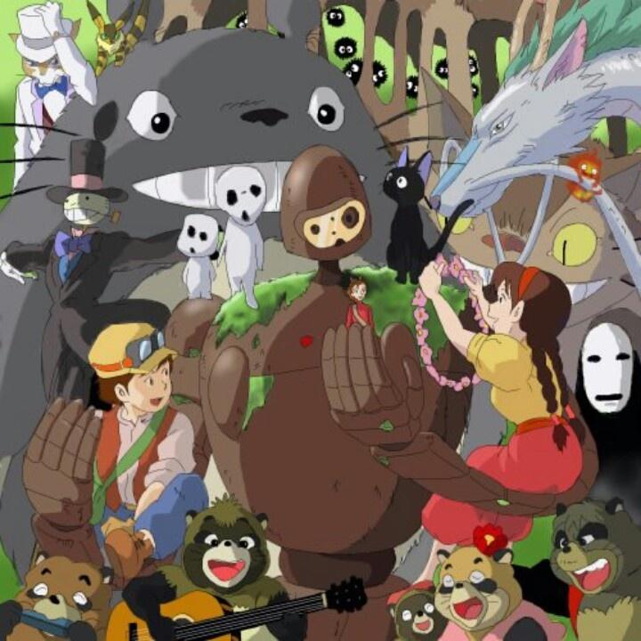 The Ghibli family TOTORO Pinterest Studios, Studio