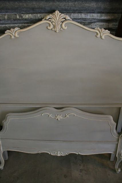 Paris Grey Vintage Bed