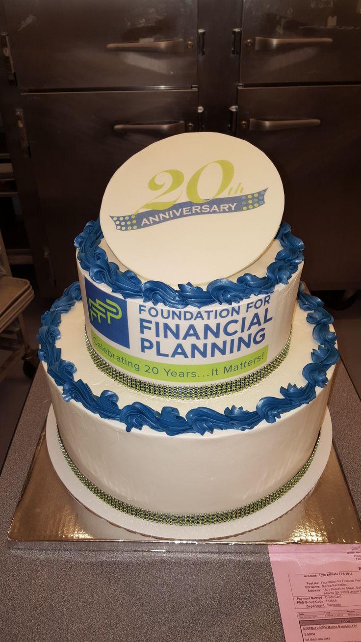 2 Tier Corporate Anniversary Cake 20th Anniversary