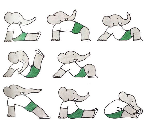 I heart Babar. I heart yoga. I came across this a few weeks ago, and need to add it to my library. I especially like to share healthy eating and fitness with my friends kids when they visit, and this is a darling way to do it!