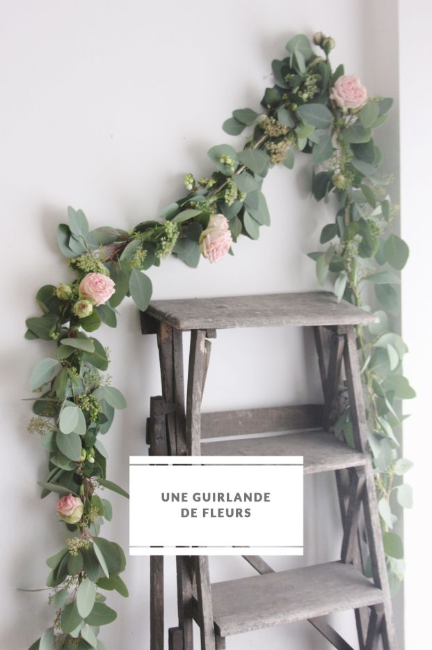 guirlande de fleurs deco fleurs diy wedding pinterest flower do it yourself and leaf. Black Bedroom Furniture Sets. Home Design Ideas