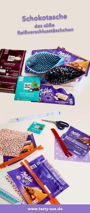 Süße Taschen aus Schokoladenpapier – Weibi