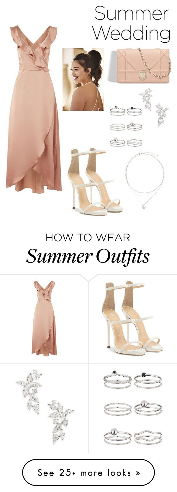 """Summer wedding guests outfit"" by tahirih-mcdonald on Polyvore featuring WYLDR, Giuseppe Zanotti, Nadri and Miss Selfridge"