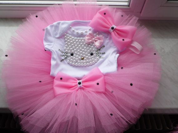 Hello Kitty Birthday Tutu Set Girls Personalized Hello by TutuUA