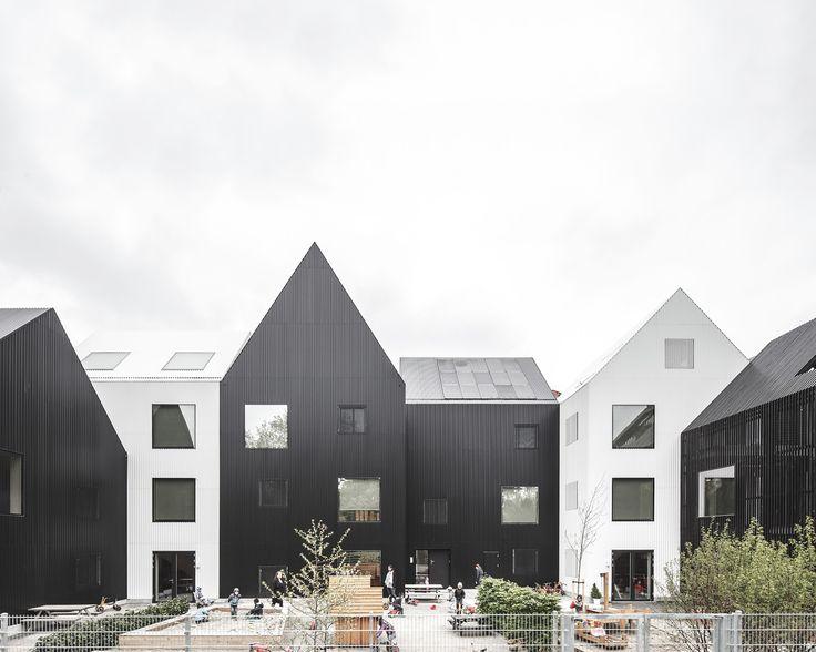 Completed in 2015 in Frederiksberg, Denmark. Images by Adam Mørk, Rasmus Hjortshøj. Frederiksvej Kindergarten was started in 2011 as a competition won by COBE in collaboration with Preben Skaarup landscape architects, Søren Jensen...