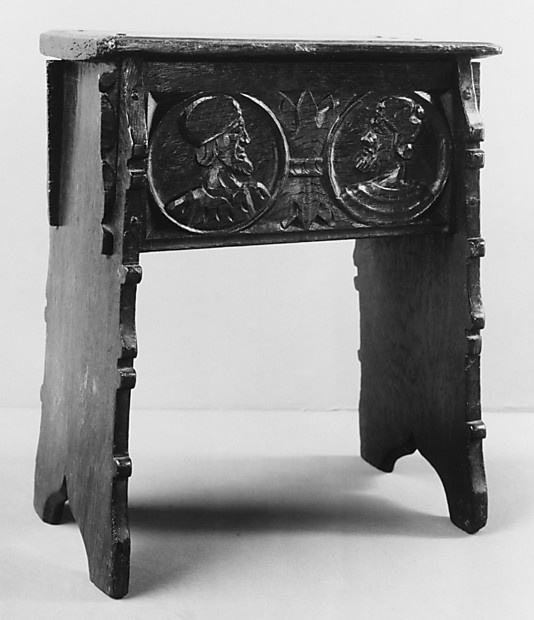 Joined Stool; first half of the 16th Century; Britain; Oak; MET