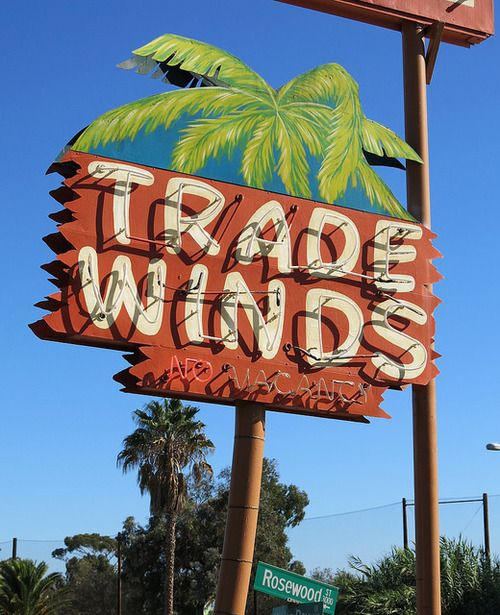 No Vacancy at the Trade Winds Motel San Diego.